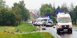 Radiowóz wjechał w motocyklistów. Jeden zabity