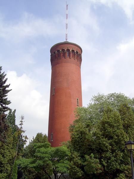 Warszawa, wieża ciśnień na terenie Filtrów Lindleya