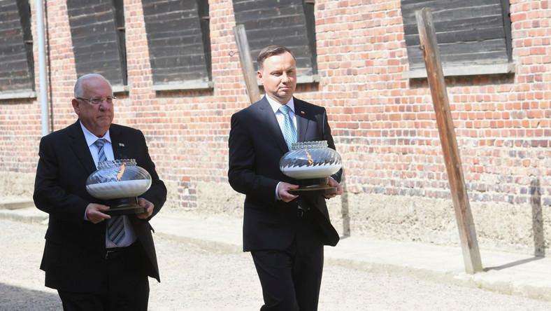 Prezydent Andrzej Duda i prezydent Izraela Reuven Riwlin
