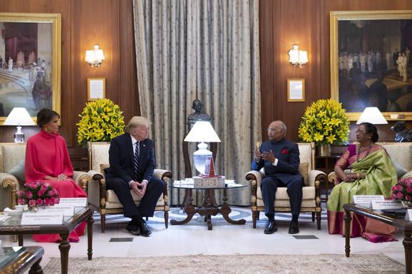 Donald Tramp u poseti Indiji