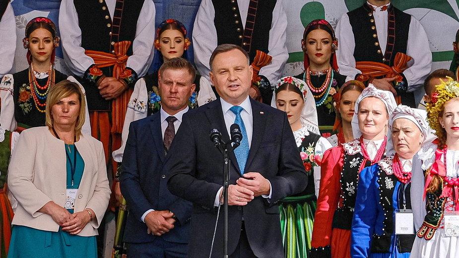 Andrzej Duda na dożynkach prezydenckich