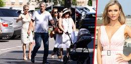 Joanna Krupa zabrała rodzinę na obiad. Podejrzeliśmy, jak rośnie jej maleńka Asha