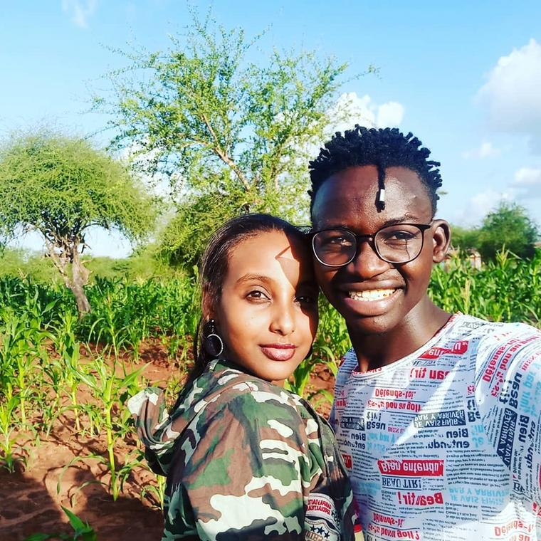 Comedian MCA Tricky with Girlfriend