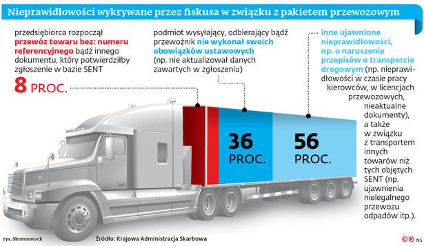 Nieprawidłowości wykrywane przez fiskusa w związku z pakietem przewozowym