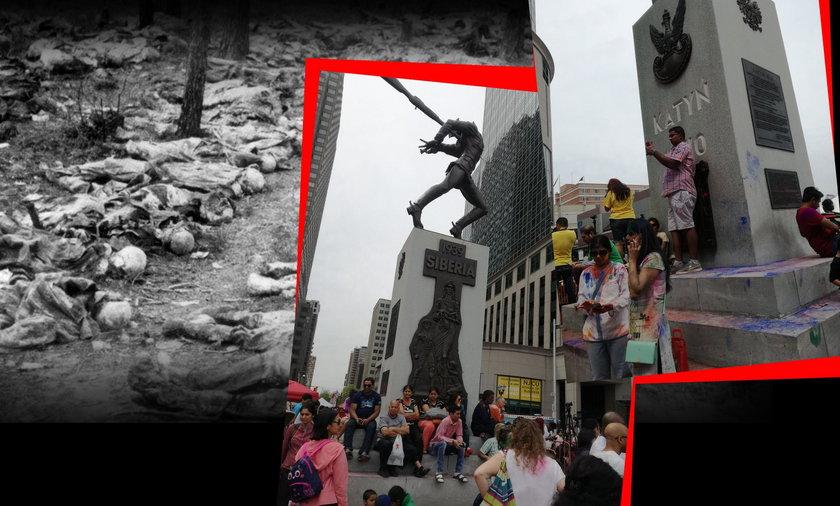 Skandal! Urządzili imprezę pod Pomnikiem Katyńskim.