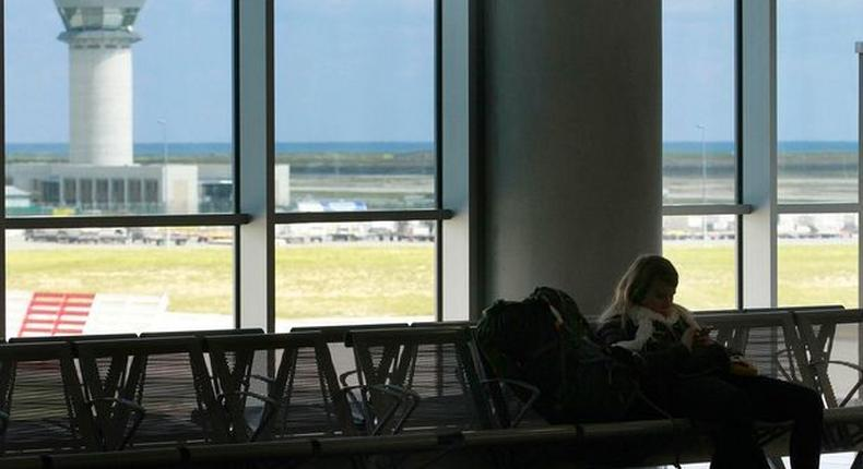 A German mother and daughter deported from Israel after their visas expired refuse to leave the Larnaca airport in Cyprus.