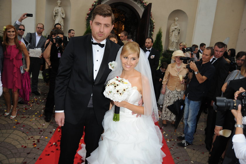 Agnieszka Popielewicz z mężem