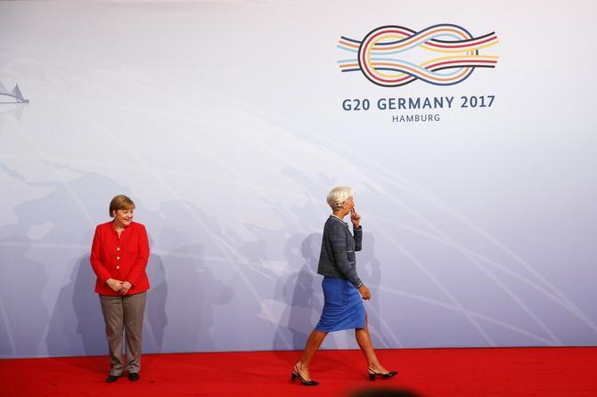 Angela Merkel, premijerka Nemačke, i Kristin Lagard, direktora Međunarodnog monetarnog fonda