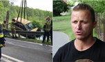 Pan Karol uratował kobietę z tonącego samochodu. Bohater sam potrzebuje pomocy