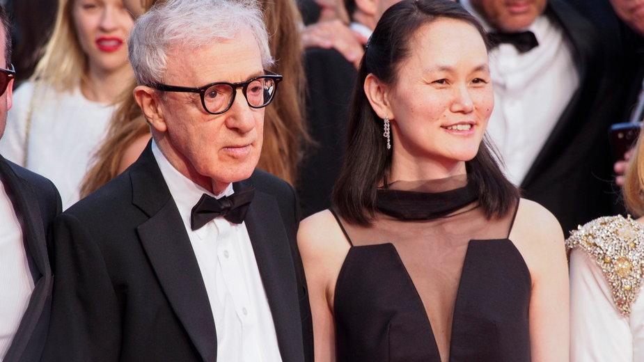 Woody Allen z żoną