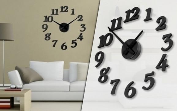 3D zidni samolepljivi sat