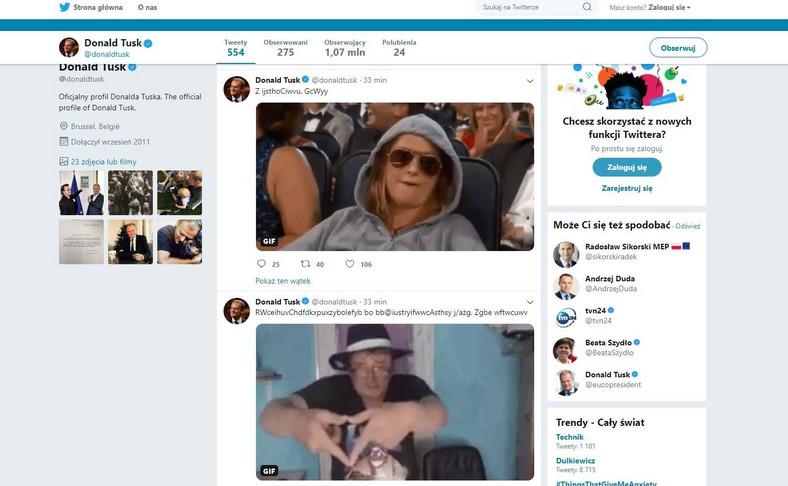 Twitter Donalda Tuska