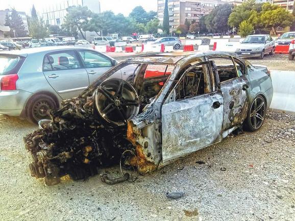 Zapaljeni automobil Ante Prnjaka