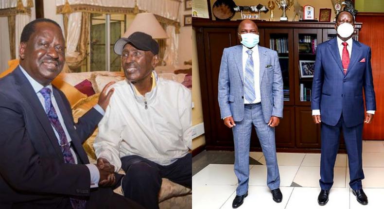 Raila Odinga, Donald Kipkorir and Chris Kirubi