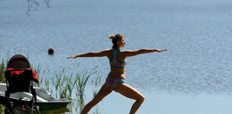 Joanna Moro trenuje na łonie natury