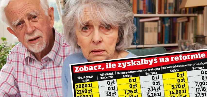Żarty? 7 złotych więcej do emerytury co miesiąc. Prześwietlamy nową reformę rządu