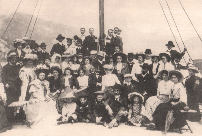 Beogradsko pevačko društvo na izletu kroz Đerdap u Negotin 90-tih godina 19. veka
