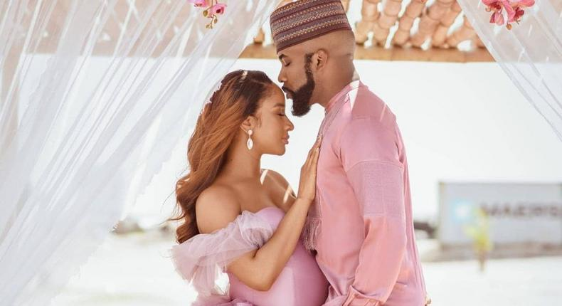 Banky W featuring his pregnant wife, Adesua Etomi in a video for 'Final Say' is a masterstroke. [Instagram/BankyWenllington]