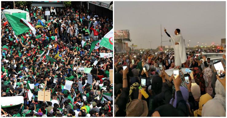 alžir sudan protesti