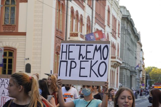 Studenti poručuju da ne žele da odu iz Srbije