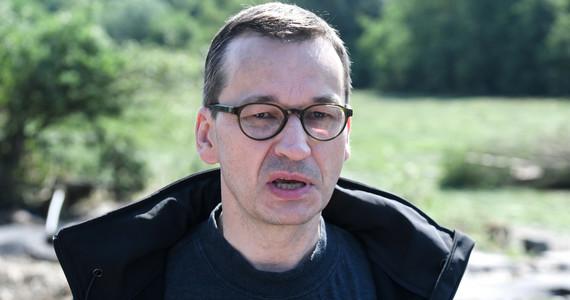 Burze nad Polską. Premier pokazał skutki ulewy w swoje piwnicy