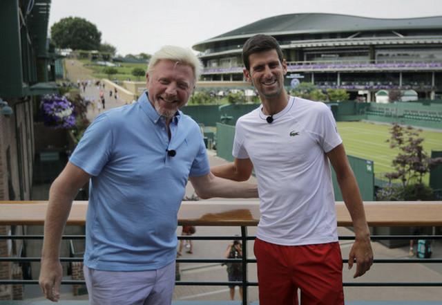 Boris Beker i Novak Đoković