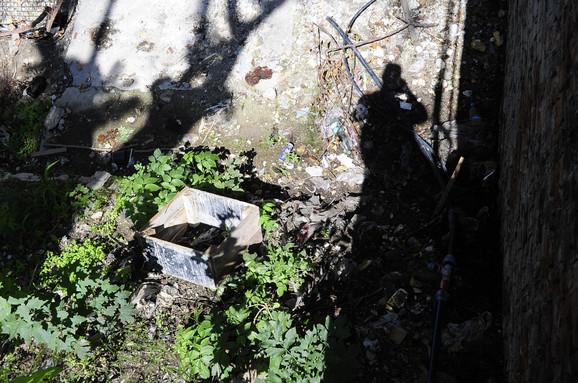 Mesto gde je pronađena torba sa municijom