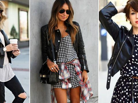 0cf14ce24f3e6 Brakuje ci pomysłów jak nosić skórzaną kurtkę  Zobacz 30 inspiracji z  blogów. Precz z nudą!