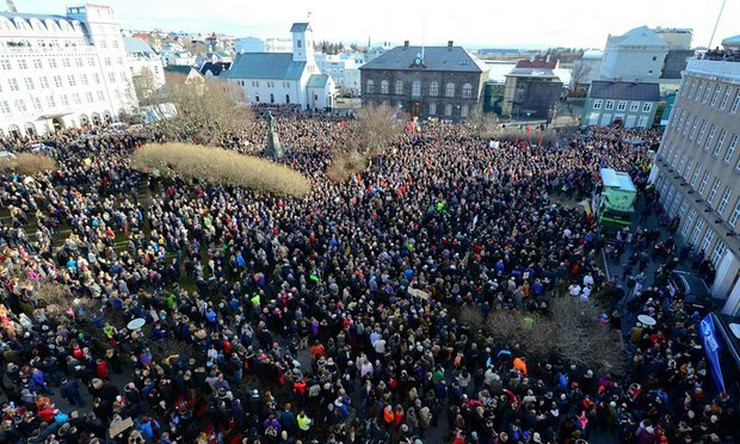 demonstracije island reuters