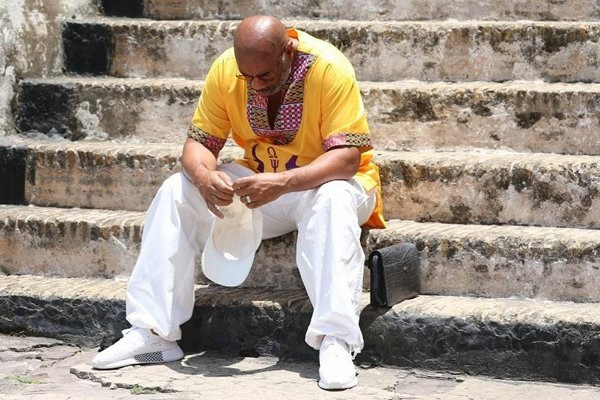 Steve Harvey makes emotional visit to Cape Coast Castle