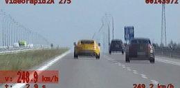 Kierowca mercedesa jechał 248 km na godz. Przeliczył się!