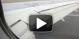 Twarde lądowanie! Film z WNĘTRZA boeinga 767!