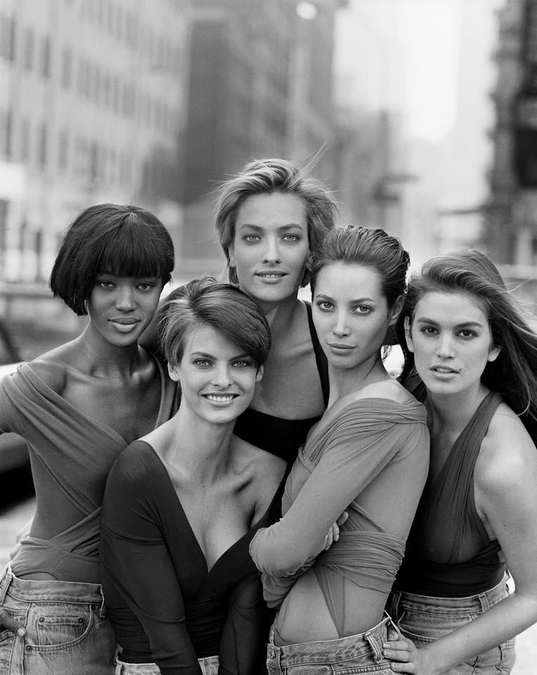 Naomi Campbell, Linda Evangelista, Tatjana Patitz, Christy Turlington i Cindy Crawford