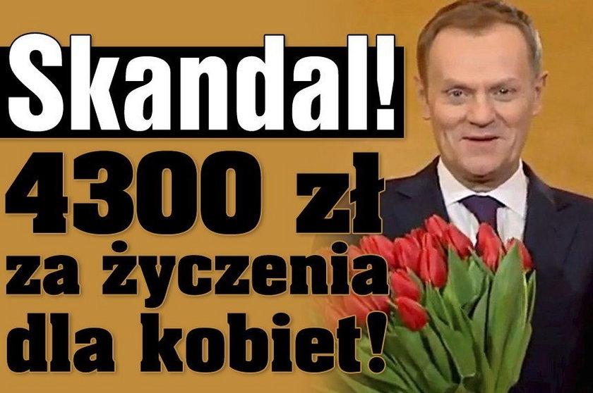 Skandal! 4300 zł za życzenia od premiera!