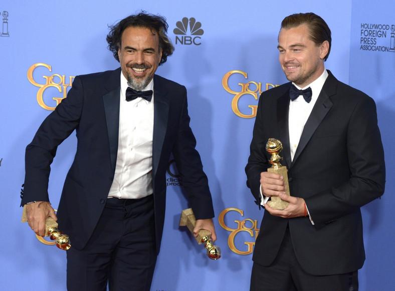 """Leonardo DiCaprio i reżyser """"Zjawy"""" Alejandro González Iñárritu"""