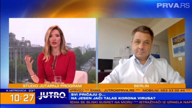 """Naš stručnjak iz Nemačke u emisiji """"JUTRO"""""""