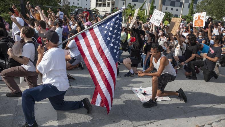 Protesty w Miami na Florydzie