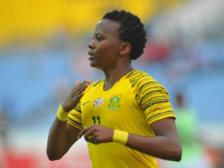 Thembi Kgatlana of Bayana Bayana of South Africa was the best player of the AWCON 2018