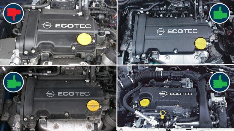 Odradzamy benzyniaka 1.0. Wersje 1.2 (na górze po prawej), 1.4 (na dole po lewej) oraz diesel 1.7 (na dole po prawej) są dobrym wyborem.
