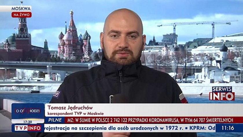 Kłopoty korespondenta TVP w Moskwie.
