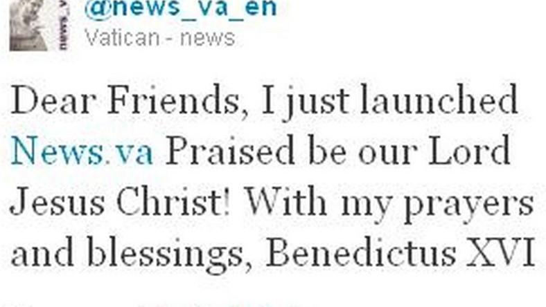 Papież po raz pierwszy wpisał się na Twitterze