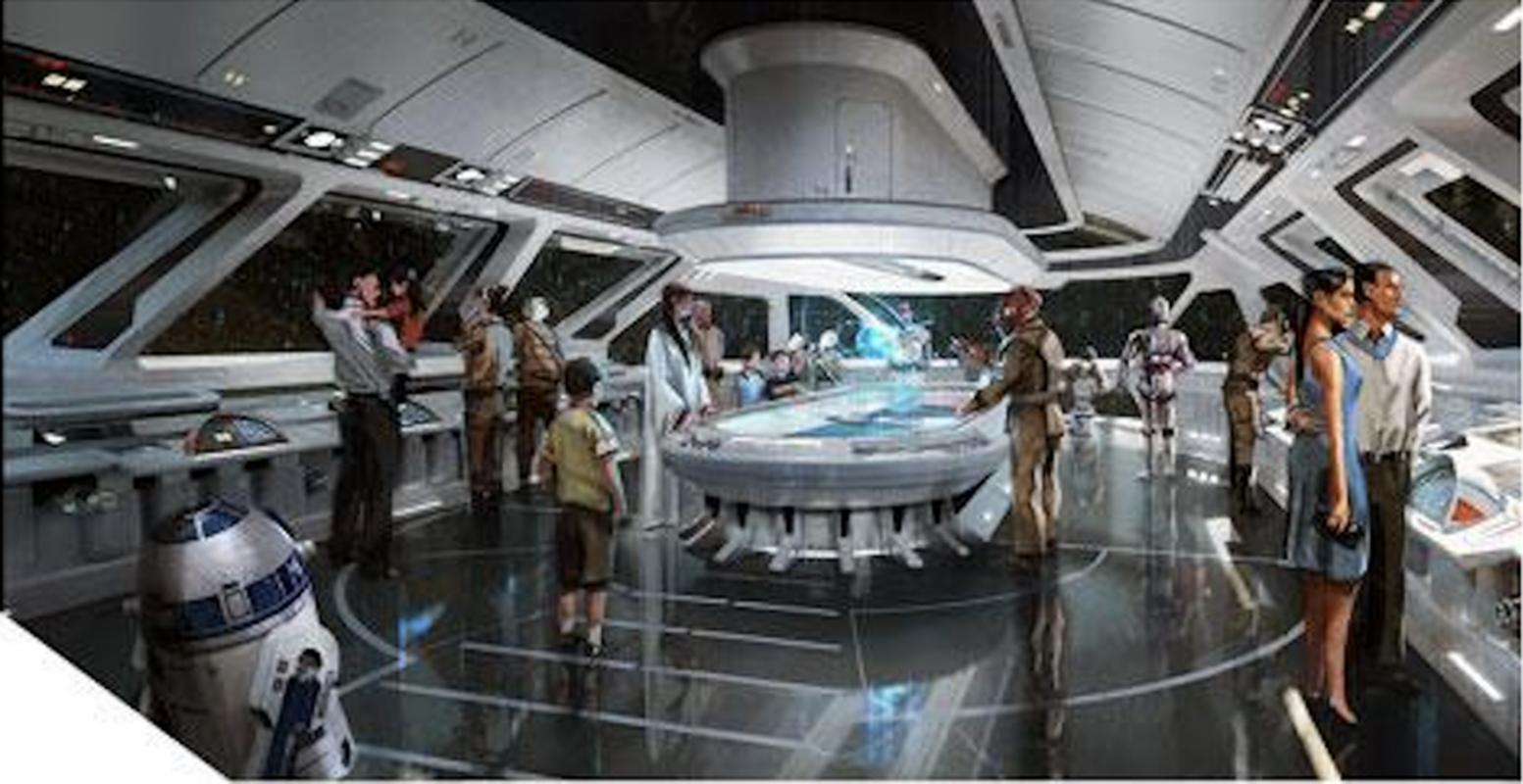 Jedna z sal w potencjalnym hotelu na terenie Star Wars Land
