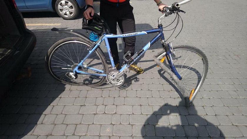 Drzewo runęło na rowerzystę w Pieninach