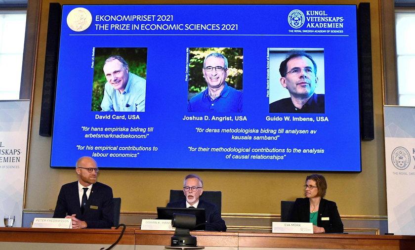 Nagroda Nobla z ekonomii: David Card, Joshua Angrist i Guido Imbens nagrodzeni