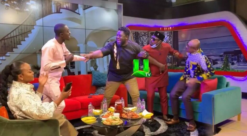 Funny Face and Lil Win fight on live TV (WATCH)
