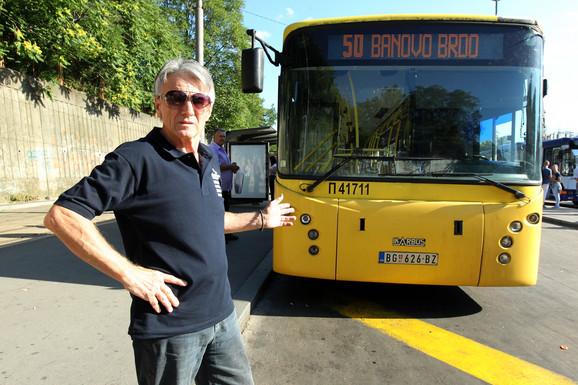 Vojislav Marković, vozač autobusa na liniji 50