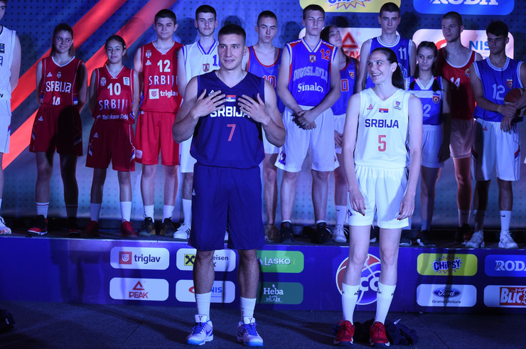 Promocija dresa košarkaša Srbije