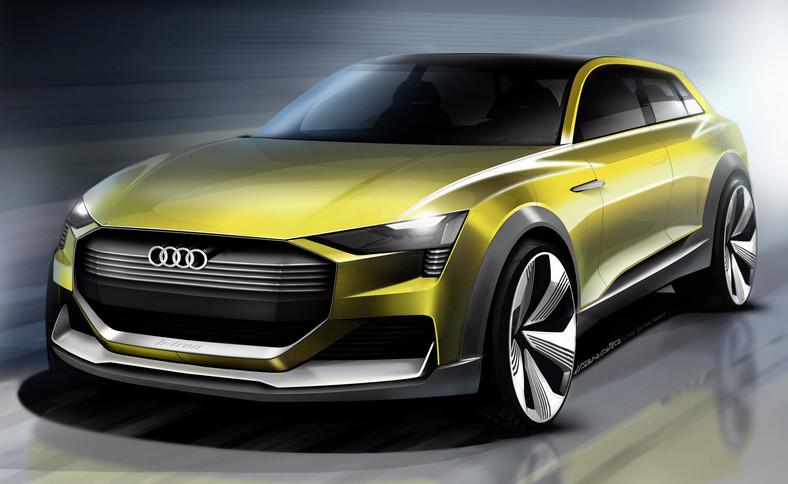 Audi h-tron quattro concept - szkic autorstwa Kamila Łabanowicza
