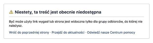 Blokada Facebooka