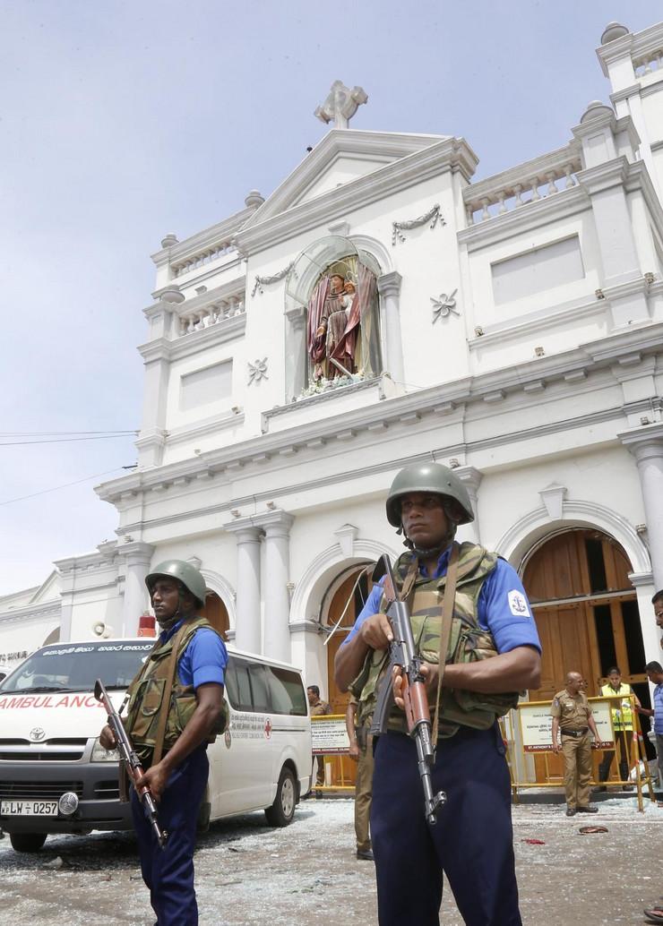 Šri Lanka, bombaški napad, crkve, hoteli, Uskrs